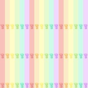 Gummy_Bears Pastel Rainbow Stripes