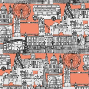 London toile peach
