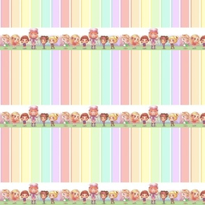Pastel Stripes Group Picture