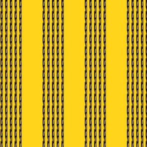 Atxt 14, yellow and black,chain, stripe