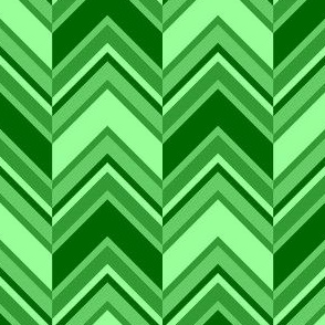 binary chevron - emerald green