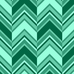 binary chevron - jade green
