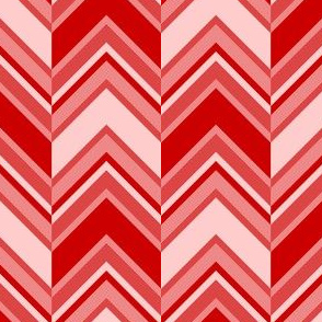 binary chevron - red