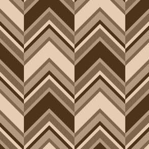 binary chevron - hemp brown