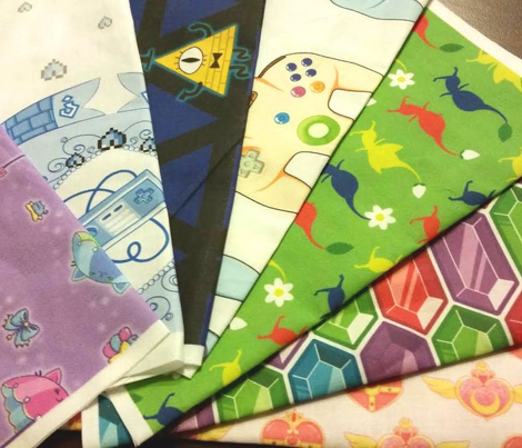 Pikmin Inspired Fabric