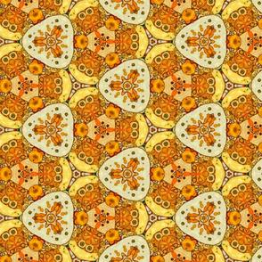 Geometrical pattern yellowy-brown
