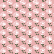 White Blooms - Pink