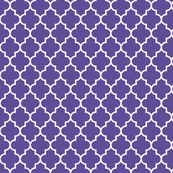 quatrefoil MED purple