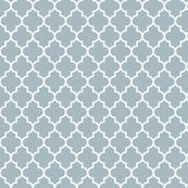 quatrefoil MED slate blue