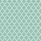 quatrefoil MED faded teal