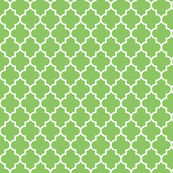 quatrefoil MED apple green