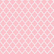 quatrefoil MED light pink