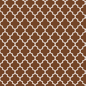 quatrefoil MED chocolate