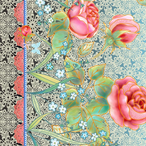 Mother's day rose garden border design