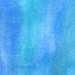 Watercolor wash - Blue sea