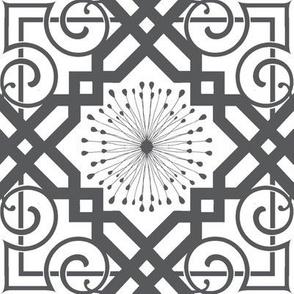 grey ironwork floral