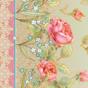 Mother's day rose garden border design 2