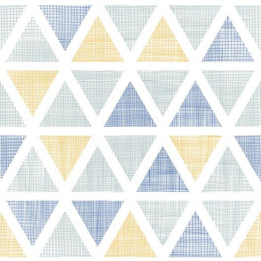 Abstract textile ikat triangles