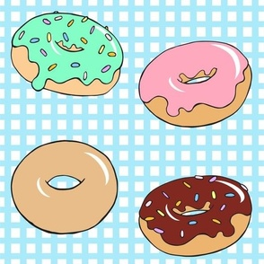 Donuts on Gingham