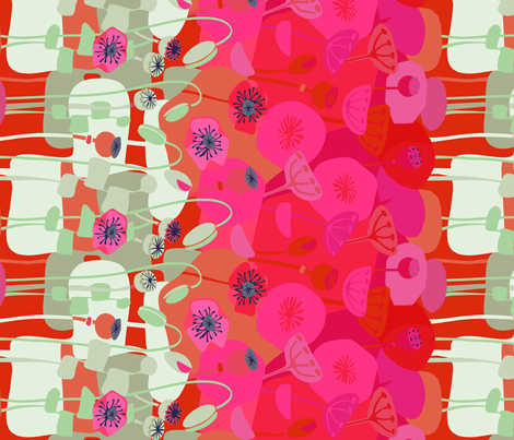 Red Poppies -border print