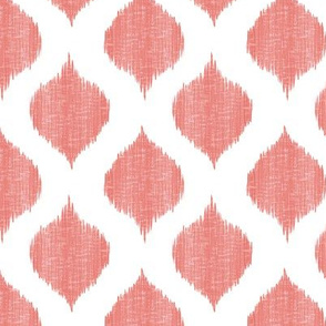 Small Scale Lela Ikat in Coral