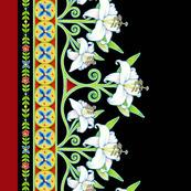 Folkloric Floral Lily Border