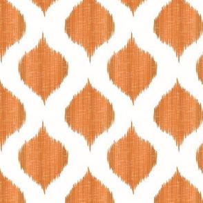 Small Scale Lela Ikat in Tangerine