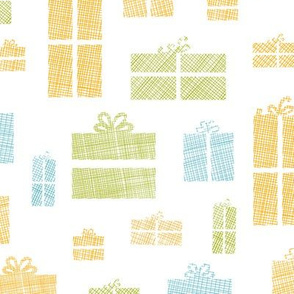 Colorful gift boxes textile texture