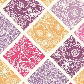 Rhombus textured seamless pattern