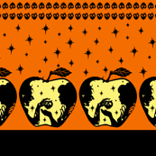 Snow White Halloween Apple Border Print