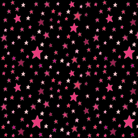 Pink Stars on Black {Paper Moon Collection}