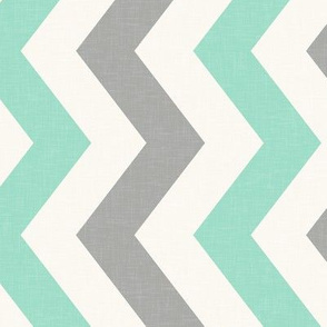 Railroaded Half Scale Mint and Grey Chevron
