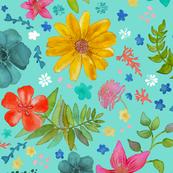 Painted Flower Border