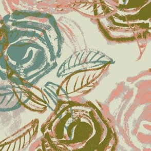 50`s roses pinkish