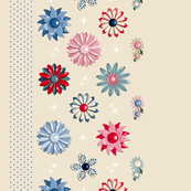 Garden Jewels (Neutral Red/Blue)