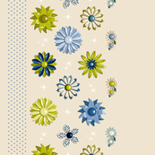 Jackie Border Print (Neutral/Blue/Green)