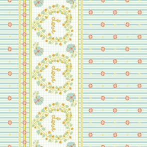 With Love To Mother - Horizontal Stripes Border Print