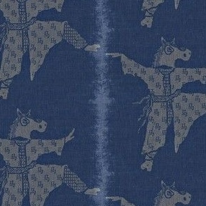 Horse Dancer - deep indigo, grey