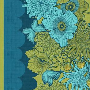 Lush floral border