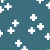 gender neutral scandinavian style cross plus sign geometric illustration pattern teal