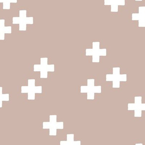 gender neutral scandinavian style cross plus sign geometric illustration pattern warm gray beige
