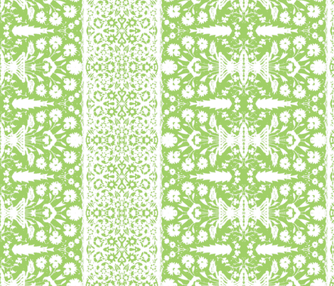 bosporus_tiles green white silk crepe de chine-ed-ch