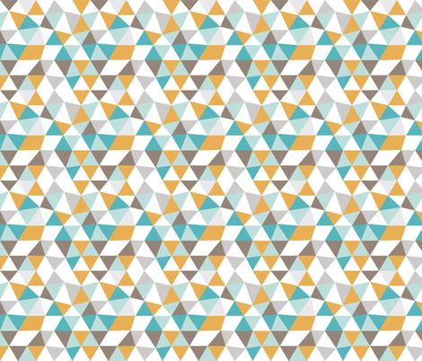 Pastel modern geometric triangle pattern in orange blue and soft gray