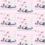 Yorkie, Maltese, Miki, Matching Fabric for Quilt Panel