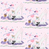 "3"" Pattern Yorkie, Maltese, Miki, Matching Fabric for Quilt Panel"