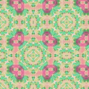 Coral and Mintgreens Swirl