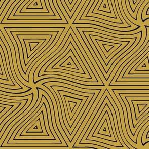 Pyramid (Mustard with Black)