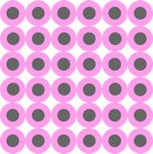 Pinky Grey Circular Drops