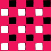 Squares Hot Pink