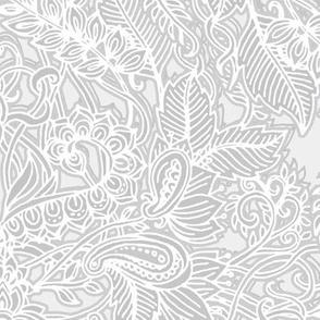 Frost & Ash Art Nouveau Doodle Pattern